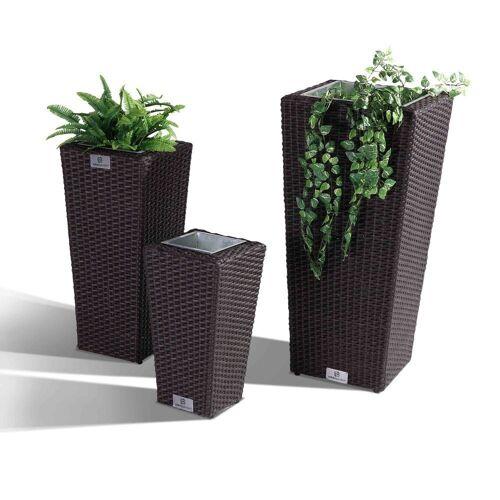 Nikki Garden Pflanzentopf Korfu - Small dunkelbraun