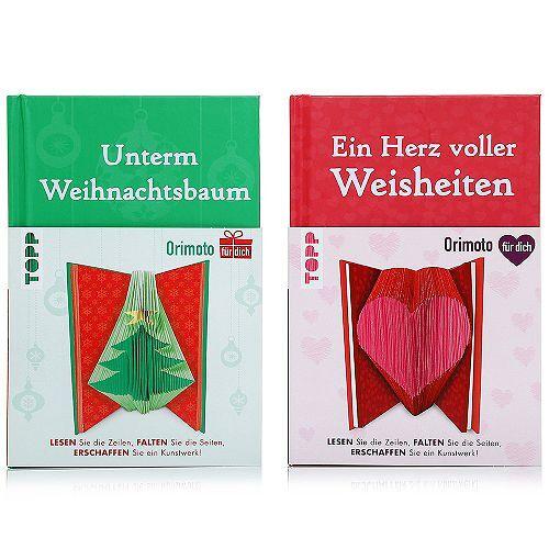 ORIMOTO Faltkunstwerke Herz & Tannenbaum 2er Set