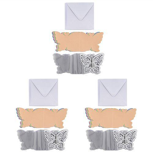 KARIN JITTENMEIER Grußkarten-Set Kristallfolien-Karten Schmetterlinge 90tlg.