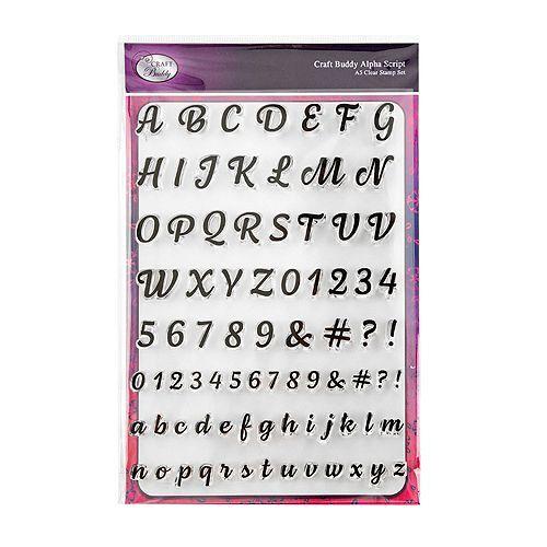 CRAFT BUDDY Stempel-Set DIN A5-Bogen verschiedene Motive 1 Set