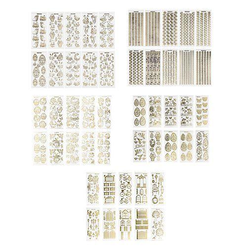 KARIN JITTENMEIER Sticker-Set Gravursticker verschiedene Motive 50tlg.