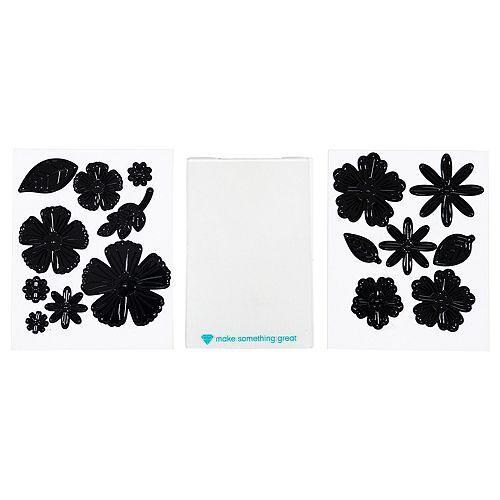 diamondpress Schablonen-Set Stanzschablonen Blumen & Blätter 16tlg.