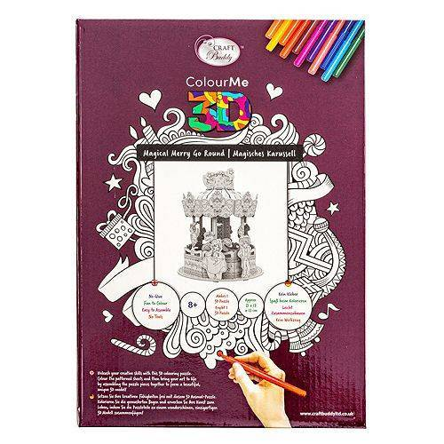 CRAFT BUDDY Puzzle-Set Karusell inkl. Stifte 14tlg.