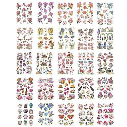 KARIN JITTENMEIER Sticker-Set Reliefsticker verschiedene Motive 25tlg.
