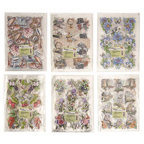KARIN JITTENMEIER Sticker-Set 3D-Reliefsticker verschiedene Motive 30tlg.