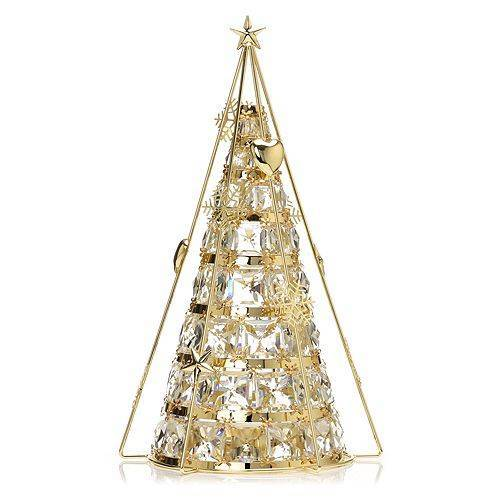 LUMIDA Xmas 2in1-Deko-Pyramide Kristall-Design 30 LEDs 5h-Timer, H. 48cm