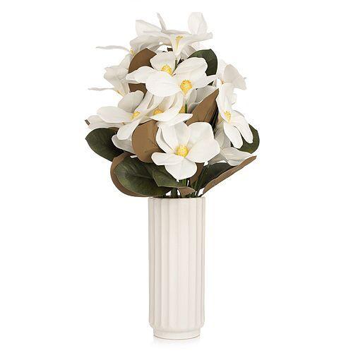 ABELLA Flora künstl. Blumenstrauß weiß Keramiktopf Höhe ca. 60cm