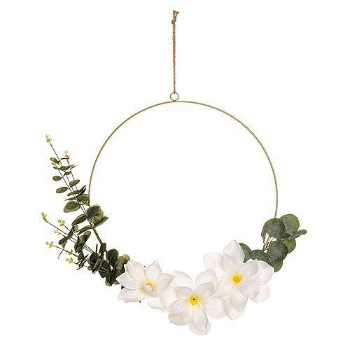ABELLA Flora künstliche Blumen an goldenem Ring Ø 50cm