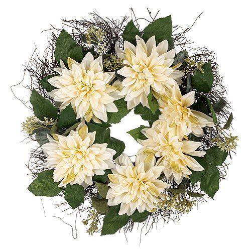 ABELLA Flora künstl. Blumenkranz Dahlien Ø 56cm