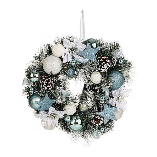 LUMIDA Xmas Weihnachtskranz inkl. Lichterkette 40 LEDs 5h-Timer, Ø ca. 35cm