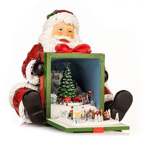 LUMIDA Xmas Weihnachtsspieluhr Winterszenerie inkl. Licht, Musik & Rotation, H 20cm