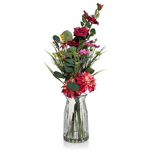 ABELLA Flora künstl. Blumenstrauß Glasvase Höhe ca. 50cm