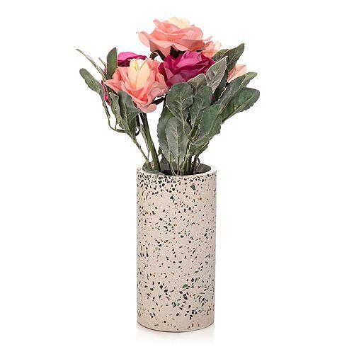 ABELLA Flora künstl. Blumenstrauß Design-Vase Höhe ca. 39cm