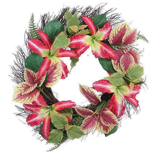 ABELLA Flora künstl. Blumenkranz sommerlicher Look Ø ca. 50cm