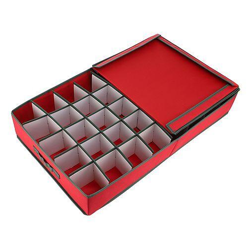 ABELLA Xmas Aufbewahrungsbox für Weihnachtsdeko 40 Fächer a 9cm breit ca. 74x43x13cm