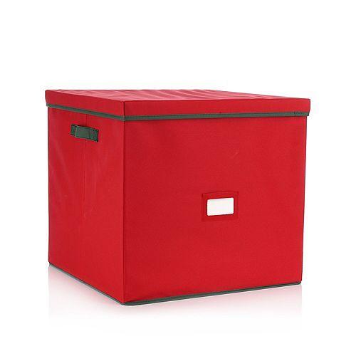 ABELLA Xmas Aufbewahrungsbox f.48 Weihnachtskugeln Polyester 45x45x42cm