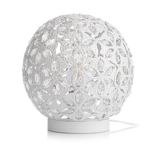 LUMIDA Casa LED-Kugel Kristall-Optik Blumenmuster Ø ca. 25cm