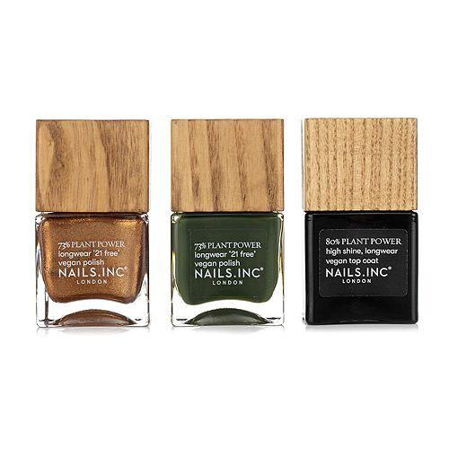 NAILS.INC® Nagellack-Set Farb- & Effektlack 2x 14ml Topcoat 14ml, 3tlg.