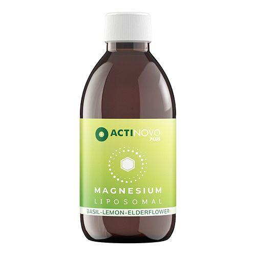 ACTINOVO Plus Magnesium Liposomal 250ml für 25 Tage Basilikum, Zitrone & Holunder
