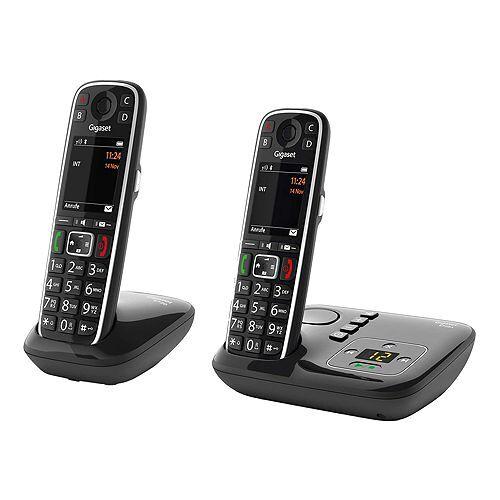 Siemens GIGASET DECT-Telefon-Duo 4 Direktwahltasten Anrufbeantworter Made in Germany