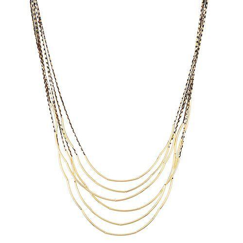 Via MILANO Collier goldfarben Länge ca. 42+7cm Modeschmuck