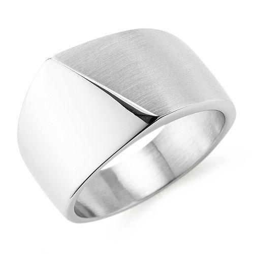 SMYKE Ring poliert mattiert Edelstahl