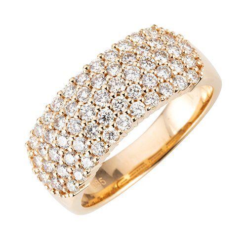 DIAMOUR Ring 59 Brillanten ca. 1,00ct/lupenrein Gold 585