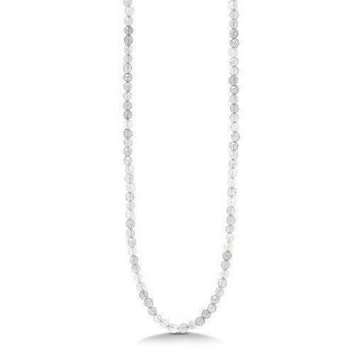 MONESSA Collier Edelsteine Länge ca.47,5cm Edelstahl