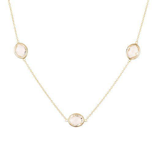 ROYELLE Bergkristalle Collier zus. ca. 10,50ct Silber 925