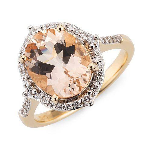 ROYELLE Morganit 2,70ct Ring Brillanten ca. 0,20ct Gold 585
