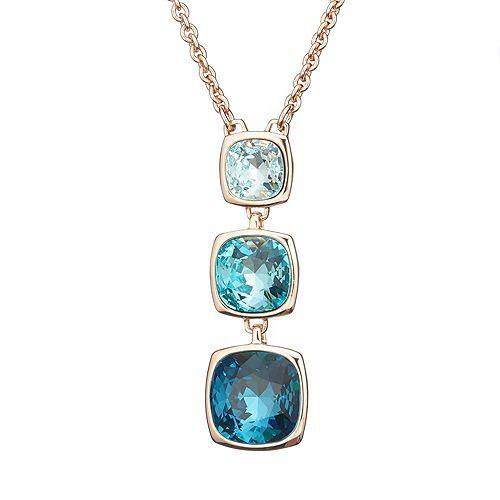 CRYSTALLIZED™ Collier Swarovski® Kristalle Länge ca. 80cm + 6cm Designschmuck