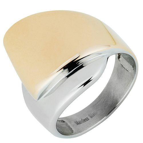 SMYKE Ring poliert bicolor Edelstahl