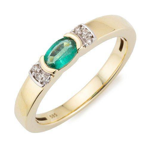 ROYELLE Ring Kolumbianischer Smaragd ca. 0,33ct Gold 585