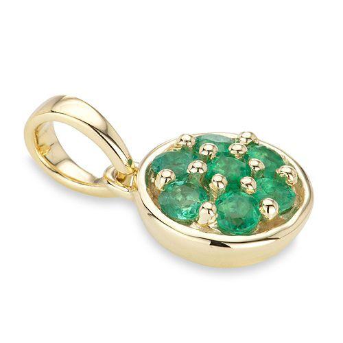 ROYELLE Anhänger Kolumbianischer Smaragd ca. 0,42ct Gold 585