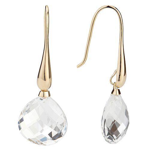 ROYELLE Bergkristall Ohrhänger zus. ca. 18,00ct Silber 925