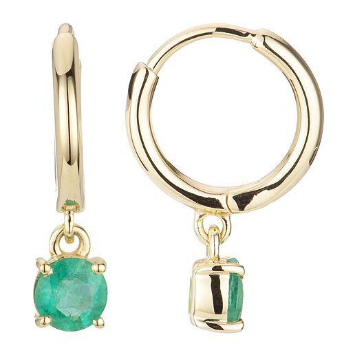 ROYELLE Ohrhänger Kolumbianischer Smaragd ca. 0,60ct Gold 585