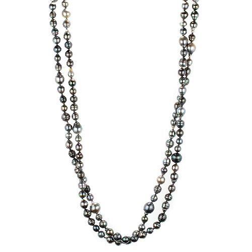 PERLEA Endlos-Collier Tahitizucht- perlen 8-12mm Länge ca. 160cm