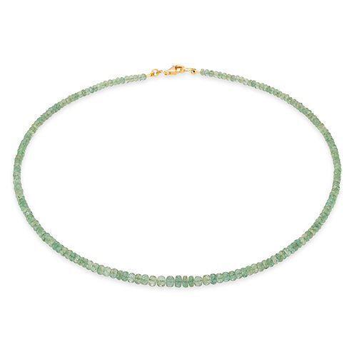 ROYELLE Sambia Smaragde Collier zus. ca. 55,00ct Gold 585