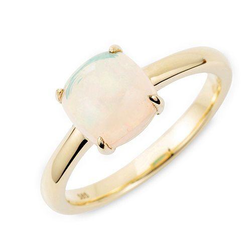 Afrikanischer Opal Ring ca. 1,00ct Kissenschliff Gold 585