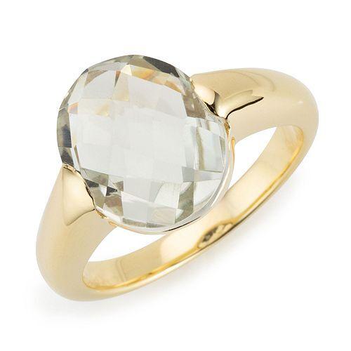 ROYELLE Prasiolith Ring ca. 3,50ct Silber 925