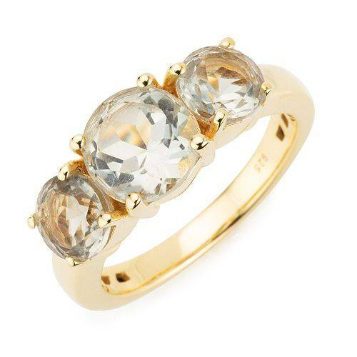 ROYELLE Prasiolith Ring zus. ca. 3,10ct Silber 925