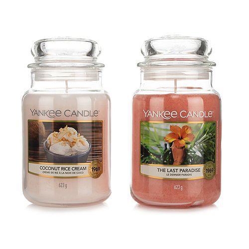 YANKEE CANDLE® Duftkerzen-Set Neue Düfte 2 Large Jars je 623g Brenndauer 110-150h