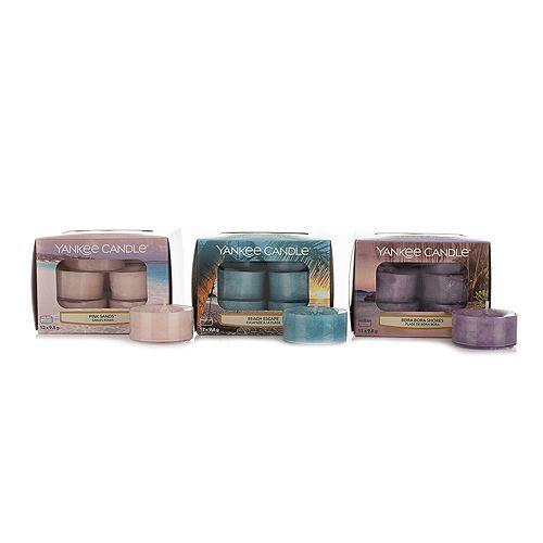 YANKEE CANDLE® Duftkerzen-Set 3 Frühlingsdüfte 36 Teelichte Brenndauer je 4-6h