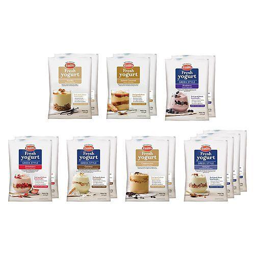 EASIYO Joghurtpulver 16 Beutel für 16kg Joghurt, 7 Sorten inkl. Rezeptheft