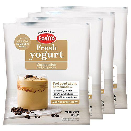 EASIYO Joghurtpulver 4 Beutel à 500g für 2kg Joghurt sortenrein