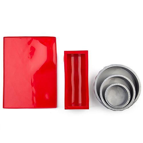 Back-Set Torten Backformen, Kastenform inkl. Biskuit Backmatte aus Silikon, 5tlg.
