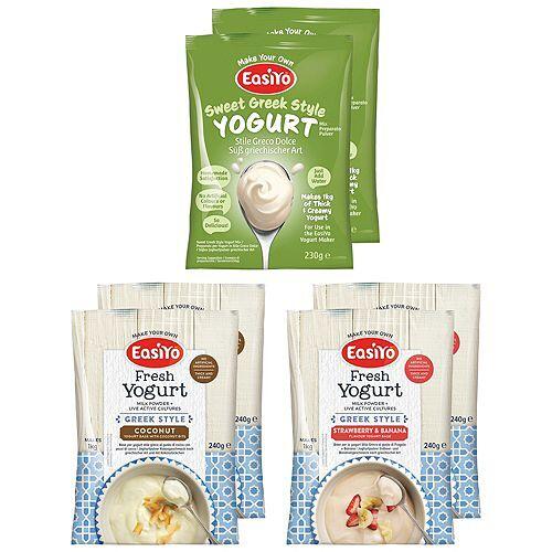 EASIYO Joghurtpulver 6 Beutel für 6kg Joghurt griechischer Mix