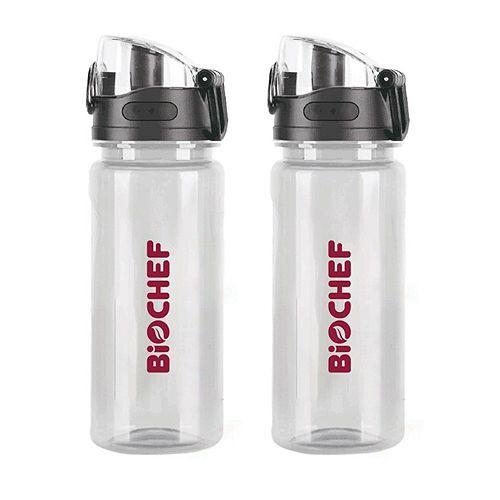 BIOCHEF Trinkflaschen 600ml 2er-Set