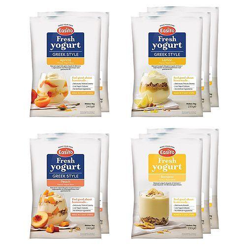 EASIYO Joghurtpulver 10 Beutel für 10kg frischen Joghurt Gelbe Früchte