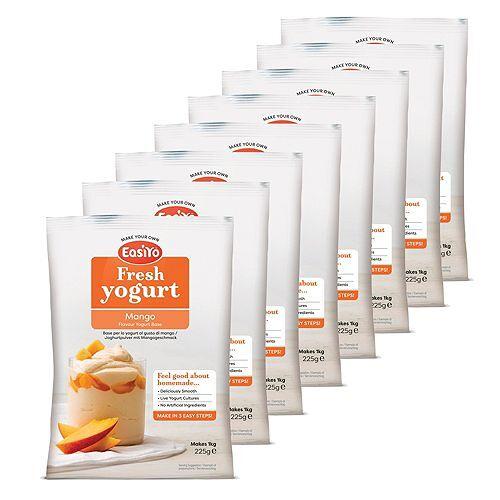 EASIYO Joghurtpulver 8 Beutel für 8kg Fruchtjoghurt sortenrein